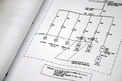 Elektrische Zeichnung Lizenzfreies Stockbild
