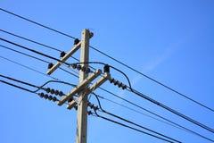 Elektrische Zeile stockfoto