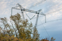 Elektrische Zeile Lizenzfreie Stockfotografie