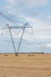 Elektrische Zeile Stockfotografie