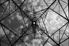 Elektrische Zeile Lizenzfreies Stockfoto