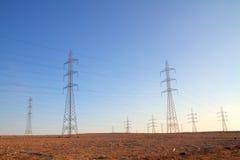 Elektrische Zeilen Stockfoto