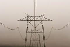 Elektrische Zeilen Stockbilder