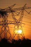 Elektrische zonsondergang Royalty-vrije Stock Afbeeldingen