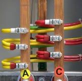 Elektrische Zufuhr Stockbild