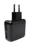 Elektrischer Adapter zu den USB-Porten Stockbild