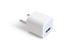 Elektrischer Adapter zum USB-Kanal Lizenzfreies Stockfoto