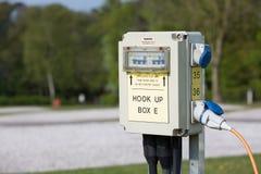 Elektrischer Anschluss des Wohnwagens Lizenzfreies Stockfoto