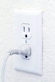 Elektrischer Anschluss mit Netzkabel Stockbilder