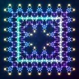 Elektrischer Blitzvektor-Kaleidoskoprahmen Stockbild