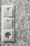 Elektrischer Block auf der Wand Stockbild