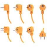 Elektrischer Bolzen von den verschiedenen Winkeln, 3d übertragen Lizenzfreies Stockfoto