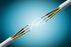 Elektrischer Draht stockfoto