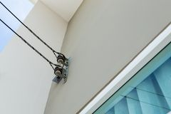 Elektrischer Draht in das Haus Lizenzfreies Stockbild