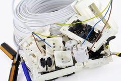 Elektrischer Einbau bearbeitet Hintergrund stockbilder