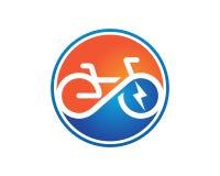 Elektrischer Fahrrad Schablonenvektor Stockfotografie