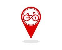 Elektrischer Fahrrad Schablonenvektor Lizenzfreies Stockfoto