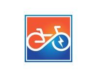 Elektrischer Fahrrad Schablonenvektor Stockbilder