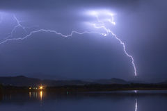 Elektrischer Funkenüberschlags-Himmel Lizenzfreies Stockbild