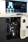 Elektrischer Generator mit Monitor Stockfotografie