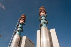 Elektrischer Generatorzentralekontrollturm Stockbilder