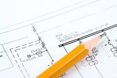 Elektrischer grundlegender Entwurf Stockfotos