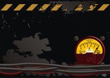 Elektrischer grunge Hintergrund lizenzfreie abbildung