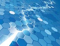 Elektrischer Hexagon-Hintergrund Co Lizenzfreie Stockfotografie