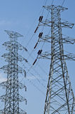 Elektrischer Hochspannungskontrollturm. Stockbilder