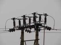 Elektrischer konkreter Pfosten Stockfotografie