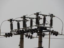 Elektrischer konkreter Pfosten Stockbilder