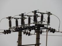 Elektrischer konkreter Pfosten Lizenzfreies Stockfoto