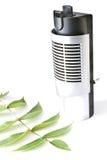 Elektrischer Luftbefeuchter mit Blatt Stockfoto