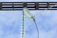 Elektrischer Maschendraht mit den Isolatoren Stockbilder