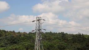 Elektrischer Mast stock video footage