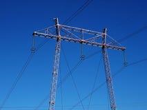 Elektrischer Mast Stockfoto