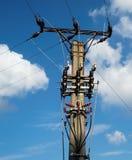 Elektrischer Mast Stockfotos