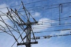 Elektrischer Mast Stockfotografie