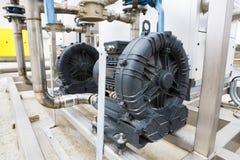 Elektrischer Motor des Klärwerks Stockbild