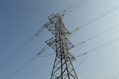 Elektrischer Netzturm Lizenzfreies Stockfoto