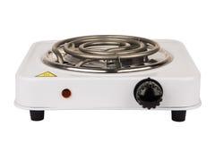 Elektrischer Ofen mit einem Brenner Stockbild