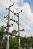 Elektrischer Pfosten Stockfoto