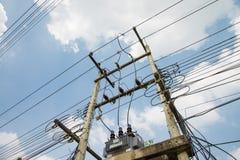 Elektrischer Pfosten Stockbild