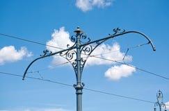 Elektrischer Pfosten für Tramlinie Lizenzfreies Stockfoto