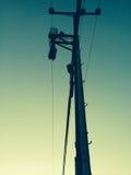 Elektrischer Pol Lizenzfreie Stockfotos