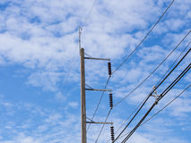 Elektrischer Pol Lizenzfreies Stockbild