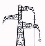 Elektrischer Pol stockbilder