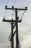 Elektrischer Pol Stockfotos