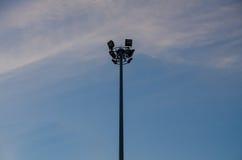 Elektrischer Pol stockfotografie