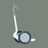 Elektrischer Roller für gehende Touristen Lizenzfreies Stockbild